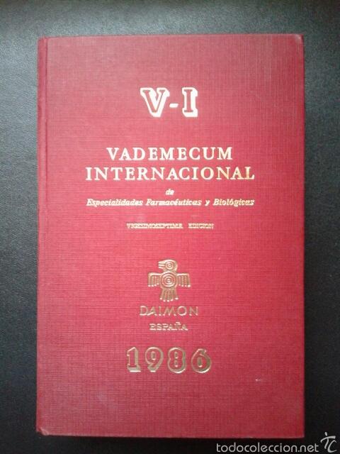 VADEMECUM INTERNACIONAL 1986 (Libros de Segunda Mano - Ciencias, Manuales y Oficios - Medicina, Farmacia y Salud)