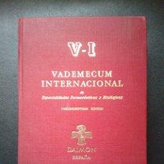 Libros de segunda mano: VADEMECUM INTERNACIONAL 1986. Lote 58240480