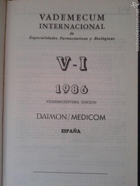 Libros de segunda mano: VADEMECUM INTERNACIONAL 1986 - Foto 2 - 58240480