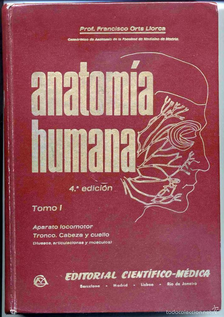 anatomía humana. francisco orts llorca. tomo pr - Comprar Libros de ...