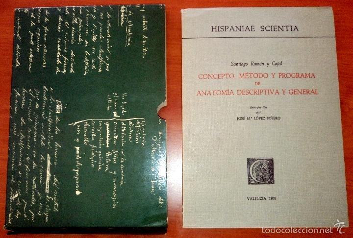 CAJAL CONCEPTO, MÉTODO Y PROGRAMA DE ANATOMÍA DESCRIPTIVA Y GENERAL VALENCIA 1978 FACSÍMIL (Libros de Segunda Mano - Ciencias, Manuales y Oficios - Medicina, Farmacia y Salud)