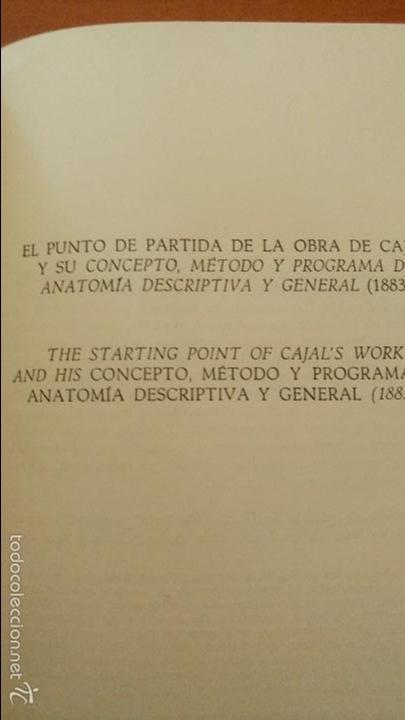 Libros de segunda mano: CAJAL CONCEPTO, MÉTODO Y PROGRAMA DE ANATOMÍA DESCRIPTIVA Y GENERAL VALENCIA 1978 FACSÍMIL - Foto 3 - 60454499