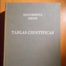 Libros de segunda mano: TABLAS CIENTIFICAS. DOCUMENTA GEIGY. REDACCION: KONRAD DIEM. SEXTA EDICION. 1965. TAPA DURA EN TELA.. Lote 61502263