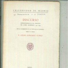 Libros de segunda mano: LA FARMACOGNOSIA Y SU DIDÁCTICA. DISCURSO. CÉSAR GONZÁLEZ GÓMEZ. Lote 61725620