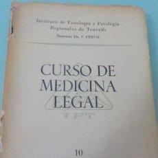 Libros de segunda mano: CURSO DE MEDICINA LEGAL PARA MÉDICOS,ABOGADOS Y UNIVERSITARIOS HOSPITAL CENTRAL 1957 TENERIFE. Lote 62446676