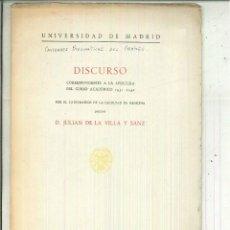 Libros de segunda mano: CAVIDADES PNEUMÁTICAS DEL CRÁNEO. DISCURSO. JULIÁN DE LA VILLA Y SANZ. Lote 62892752