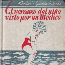 Libros de segunda mano: GARRIDO LESTACHE, JUAN: EL VERANEO DEL NIÑO, VISTO POR UN MEDICO. CONSEJOS PARA LOS PADRES . Lote 63009536