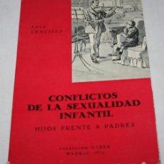 Libros de segunda mano: CONFLICTOS DE LA SEXUALIDAD INFANTIL, LUIS CENCILLO, COLECCION CISSA MADRID 1972, LIBRO. Lote 63548892
