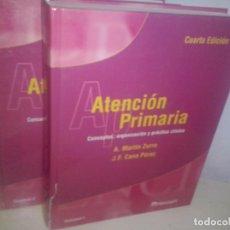 Libros de segunda mano: ATENCIÓN PRIMARIA: CONCEPTOS, ORGANIZACIÓN Y PRÁCTICA CLÍNICA. 2 VOLS / ZURRO, MARTIN / NUEVO. Lote 63608707