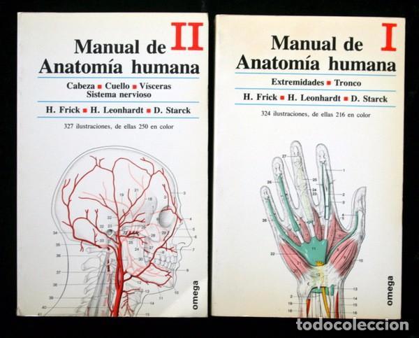 MANUAL DE ANATOMIA HUMANA - 2 TOMOS - FRICK , H. / LEONHARDT , H. / STARCK , D. .- OMEGA (Libros de Segunda Mano - Ciencias, Manuales y Oficios - Medicina, Farmacia y Salud)