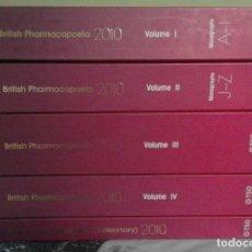 Libros de segunda mano: FARMACOPEA BRITÁNICA - BRITISH PHARMACOPOEIA - EDICIÓN 2010 - COMPLETA - EN INGLÉS. Lote 67509497