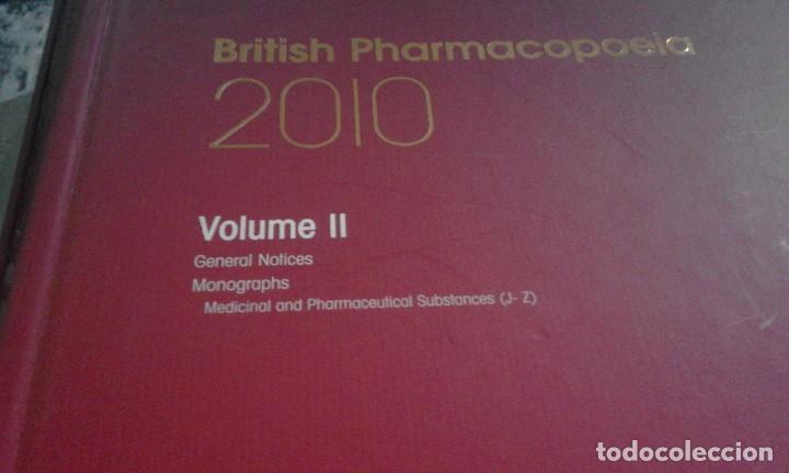 Libros de segunda mano: Farmacopea Británica - British Pharmacopoeia - Edición 2010 - Completa - en inglés - Foto 8 - 67509497