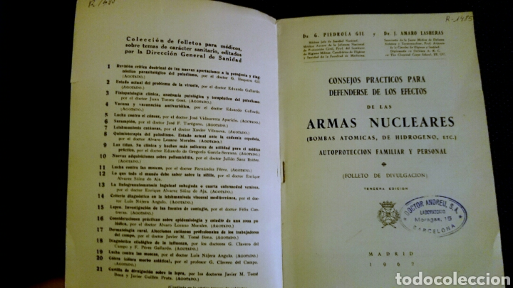 Libros de segunda mano: CONSEJOS PRÁCTICOS PARA DEFENDERSE DE LOS EFECTOS DE LAS ARMAS NUCLEARES - 3ª edición - Foto 2 - 67605326