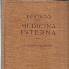 Libros de segunda mano: TRATADO DE MEDICINA INTERNA. LUIDWIG HEILMEYER. EDITORIAL LABOR. BARCELONA. 1958. Lote 68541209