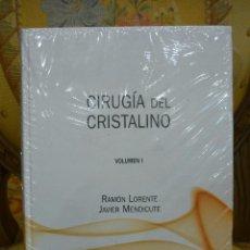 Libros de segunda mano: CIRUGÍA DEL CRISTRALINO, DE RAMÓN LORENTE Y JAVIER MENDICUTE. DOS VOLÚMENES. COMPLETO. PRECINTADO.. Lote 143151804