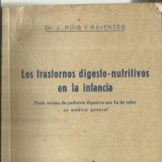 Libros de segunda mano: LOS TRASTORNOS DIGESTO-NUTRITIVOS EN LA INFANCIA. COLECCIÓN DE MONOGRAFÍAS MÉDICAS.BARCELONA.1945. Lote 69368005