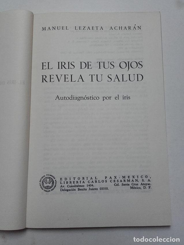 el iris de tus ojos revela tu saldu spanish edition