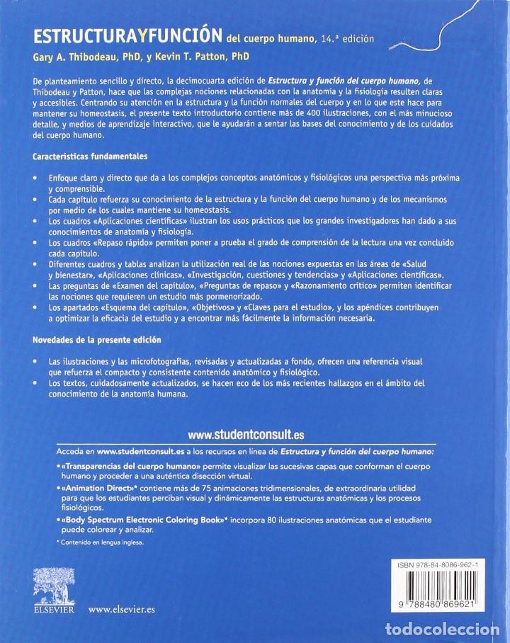 estructura y función del cuerpo humano - thibod - Comprar Libros de ...