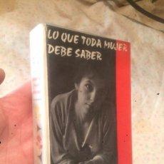 Libros de segunda mano: ANTIGUO LIBRO LO QUE TODA MUJER DEBE SABER ESCRITO POR HENRY BARNARD AÑO 1959 . Lote 73552767