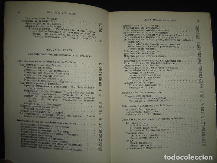 Libros de segunda mano: TU CUERPO Y TU SALUD. DR. F. GOUST. PRIMERA EDICION. EXCELENTE ESTADO - Foto 6 - 73769931