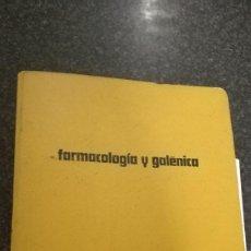 Libros de segunda mano: CARPETA FARMACOLOGIA Y GALENICA, AÑOS 70. Lote 75104747