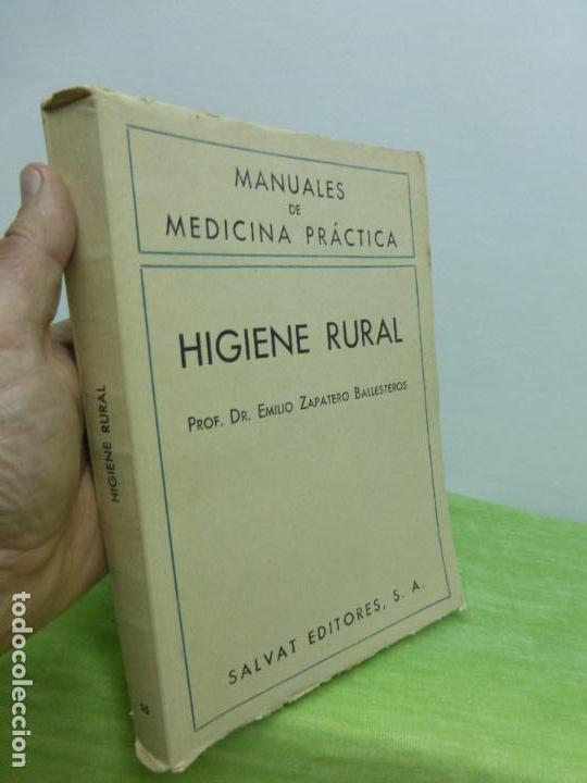 Libros de segunda mano: HIGIENE RURAL. PROF. DR. EMILIO ZAPATERO BALLESTEROS. MANUALES DE MEDICINA PRÁCTICA - Foto 2 - 75854587