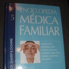 Libros de segunda mano: ENCICLOPEDIA MEDICA FAMILIAR LIBRO 5 SISTEMA NERVIOSO ANSIEDAD DEPRESION. Lote 76169367