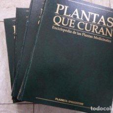 Libros de segunda mano: PLANTAS QUE CURAN. ENCICLOPEDIA DE LAS PLANTAS MEDICINALES. 4 TOMOS. PLANETA, 1997.. Lote 76931357