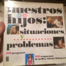 Libros de segunda mano: ANTIGUO LIBRO NUESTROS HIJOS SITUACIONES Y PROBLEMAS RESPUESTAS DE LA DRA. GISELA SEHMEER AÑO 1973 . Lote 77563809