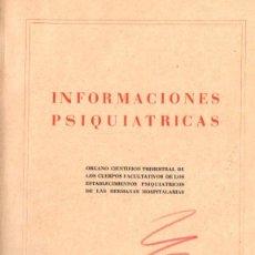 Libros de segunda mano: INFORMACIONES PSIQUIÁTRICAS Nº 2 (1956). Lote 79105989