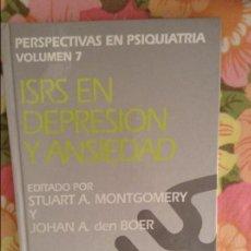Libros de segunda mano: ISRS EN DEPRESION Y ANSIEDAD - STUART A. MONTGOMERY -. Lote 79119425
