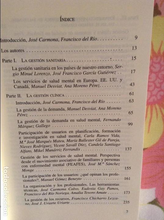 Libros de segunda mano: GESTION CLINICA EN SALUD MENTAL - JOSE CARMONA Y FRANCISCO DEL RIO NORIEGA - - Foto 3 - 79119621