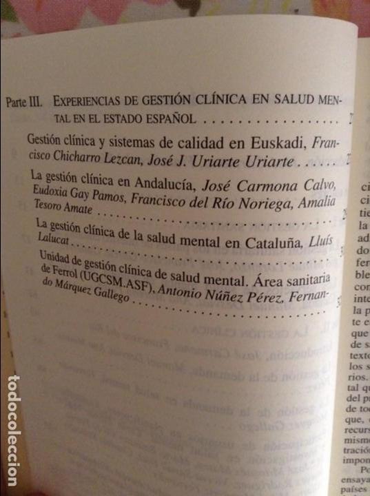 Libros de segunda mano: GESTION CLINICA EN SALUD MENTAL - JOSE CARMONA Y FRANCISCO DEL RIO NORIEGA - - Foto 4 - 79119621