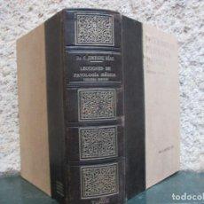 Libros de segunda mano: LECCIONES DE PATOLOGÍA MÉDICA - TOMO II - C.JIMÉNEZ DÍAZ - EDI CIENTÍFICO MÉDICA 1940 + INFO . Lote 79933309