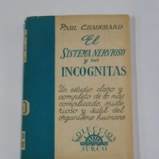 Libros de segunda mano: EL SISTEMA NERVIOSO Y SUS INCÓGNITAS. PAUL CHAUCHARD. COLECCION SURCO. TDK43. Lote 81309412
