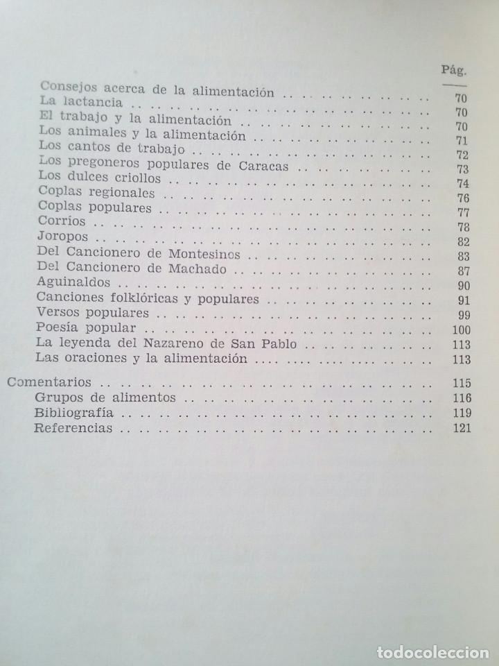 Libros de segunda mano: El folklore en la alimentación venezolana - Dr. Fermín Vélez Boza - Foto 3 - 82297892