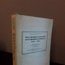 Libros de segunda mano: TEST- HERMANN RORSCHACH - PSYCHODIAGNOSTIK PLATES - PSYCHODIAGNOSTICS TAFELN. SWITZERLAND 1948. Lote 83474560