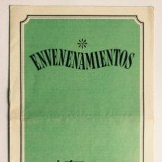 Libros de segunda mano: ENVENENAMIENTOS, SÍNTOMAS Y TRATAMIENTO. PUBLICIDAD INDUSTRIAS SANITARIAS HARTMANN. FARMACIA. Lote 83800244