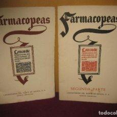 Libros de segunda mano: FARMACOPEAS. 1ª Y 2ª PARTE. LABORATORIOS DEL NORTE DE ESPAÑA. MASNOU 1956. Lote 86696028