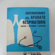 Libros de segunda mano: ENFERMEDADES DEL APARATO RESPIRATORIO. 1972. Lote 89819900