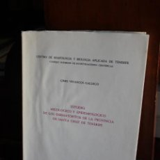 Libros de segunda mano: ESTUDIO MICOLOGICO Y EPIDEMIOLOGICO DE LOS DERMATOFITOS DE LA PROVINCIA DE TENERIFE.CANARIAS 1976.. Lote 92283125