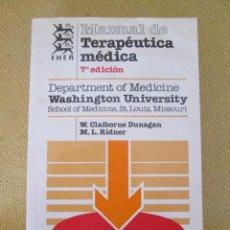 Libros de segunda mano: MANUAL DE TERAPEUTICA MEDICA FHER. Lote 93597835