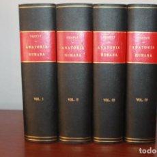 Libros de segunda mano: TRATADO DE ANATOMÍA HUMANA, L.TESTUT, LATARJET, COMPLETA, SALVAT 1943. Lote 94359430