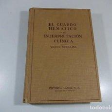 Libros de segunda mano: EL CUADRO HEMATICO Y SU INTERPRETACIÓN CLÍNICA - VICTOR SCHILLING - LABOR - 1947. Lote 94403038