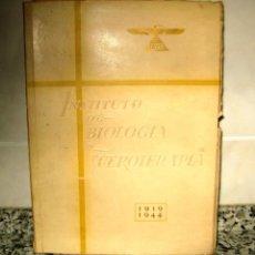Libros de segunda mano: IBYS. INSTITUTO DE BIOLOGÍA Y SUEROTERAPIA. 1919-1944.MADRID. 1944. Lote 95072967