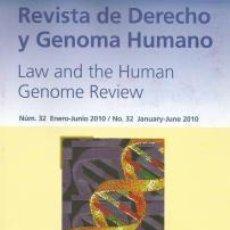 Libros de segunda mano: REVISTA DE DERECHO Y GENOMA HUMANO – VV.AA. Lote 95851159