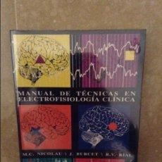 Livros em segunda mão: MANUAL DE TECNICAS EN ELECTROFISIOLOGIA CLINICA - (NICOLAU / BURCET / RIAL) - UIB. Lote 96310559
