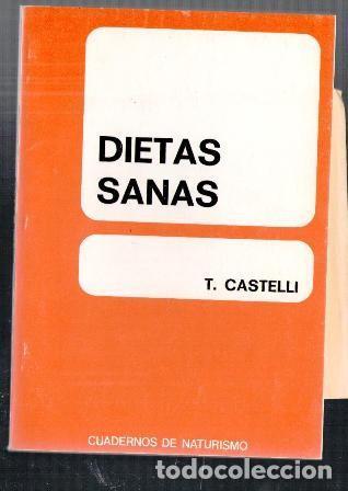 Dietas sanas, T. Castelli. Cuadernos de Naturismo. segunda mano