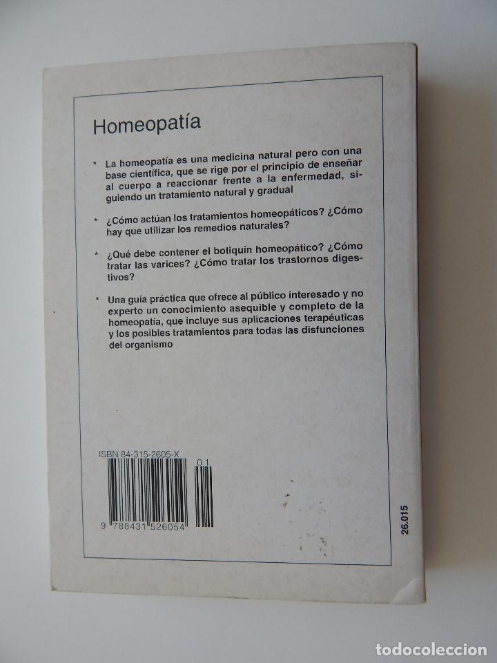 Libros de segunda mano: Homeopatía Guía para una automedicación sin riesgos - Julius Weimar - Foto 2 - 97387555