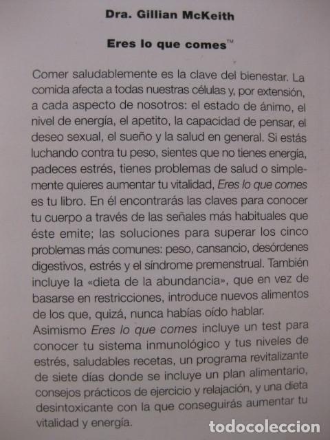 Eres Lo Que Comes La Dieta Que Cambiará Tu Vid Buy Books Of Medicine Pharmacy And Health At Todocoleccion 97976243